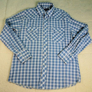 Wrangler Western Pearl Snap L/S Shirt Large
